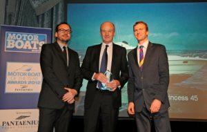David King of Princess Yachts receives accolade at 2012 Motor Boats of the Year Awards