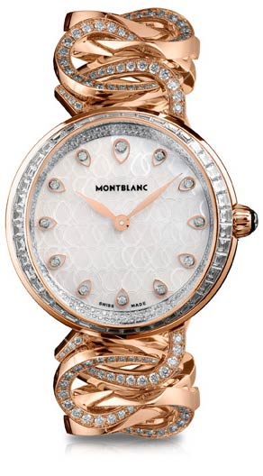 Montblanc Collection Princesse Grace de Monaco Pétales Entrelacés motif watch