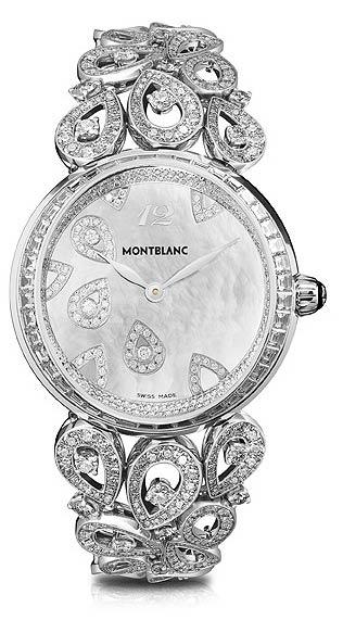 Montblanc 'Collection Princesse Grace de Monaco' Pétales de Rose motif watch