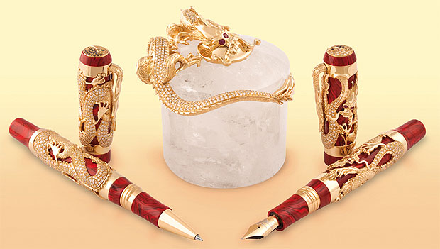 100 Years of Montegrappa Pens highlighted by the Stunning Dragon Pen