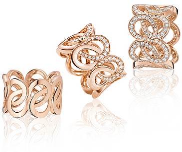 The Montbolanc Petales de Rose and Petales Entrelaces Motifs jewellery collection