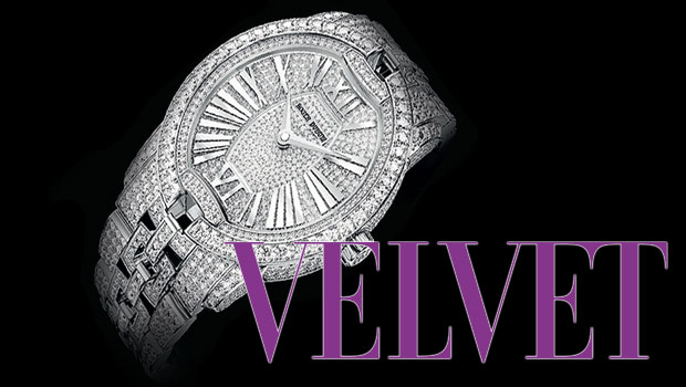 The Roger Dubuis Velvet Fine Jewellery watch in white gold with 1300 Diamonds.