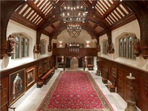 Introduced by a vestibule dressed in circa-1633 Jacobean panelling, the interiors abound with museum-quality artifacts