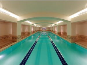 Fitness enthusiasts will enjoy all the amenities of a luxury resort, ­including a 25-meter indoor pool