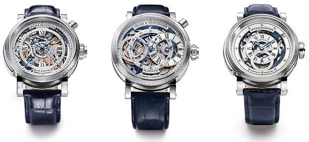 Master watchmakers Grieb & Benzinger unveil the heaviest platinum watches in the world.