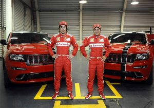 New 2012 Jeep Grand Cherokee SRT8 SUVs will sport Ferrari Red for F1 Stars