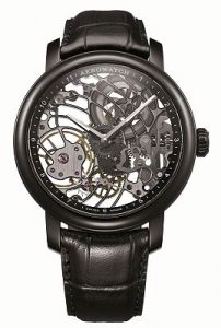 The Aerowatch Renaissance Black Tornado an innovative, skeletonized watch.