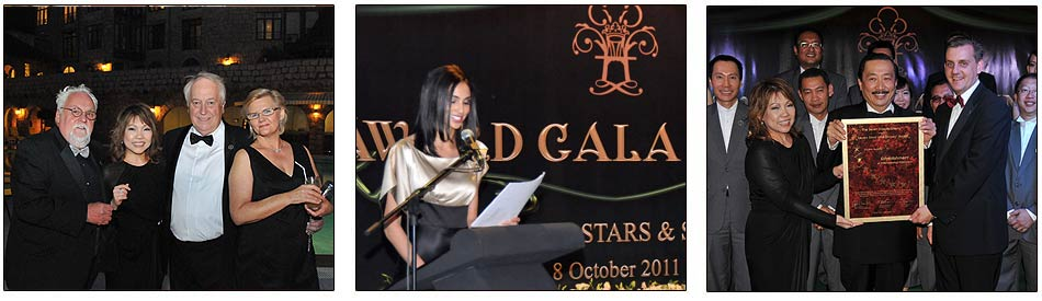 During the official opening night of The Chateau Spa and Organic Wellness Resort, at Berjaya Hills, The Chateau won four Seven Stars and Stripes awards, and later in the evening, a personal award was presented to Ms. Ming.