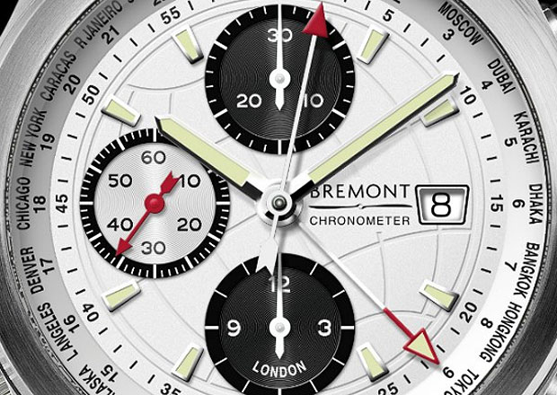 The Bremont World Timer ALT1-WT White Dial chronometer watch.