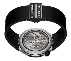 The F P Journe Octa Sport, like the Centigraphe Sport are also available with a black rubber strap.