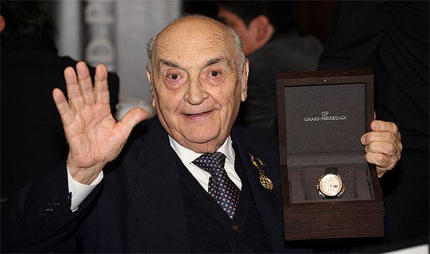 The Girard-Perregaux Tribute to Froilán González chronograph wrist watch.