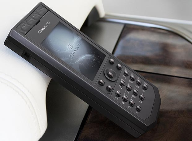 Gresso presents an exclusive Grand Monaco phone collection, designed entirely in extravagant black color.