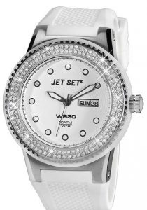 Jet Set WB30 white watch. A unique edition incrusted with 140 diamonds.