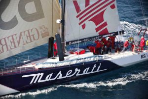 Maserati crossed the finish line at San Salvador this morning at h 10 59' 10'' GMT.