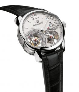 The Greubal Forsey Quadruple tourbillon à Différentiel watch was presented at the 2012 SIHH, Salon International de la Haute Horlogerie, in Geneva.
