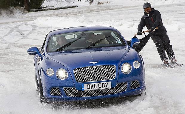 Bentley Motors Ski joring with world champion Franco Moro.