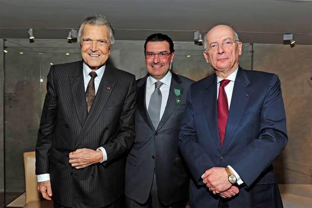 Jean-Paul Barbier-Mueller, President of Barbier-Mueller Museum; Juan Carlos Torres CEO of Vacheron Constantin; Alain Catta, French Ambassador to Switzerland