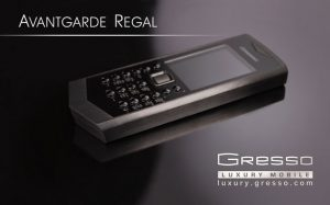 The Regal Black phone fro Gresso – dynamic attitude of Avantgarde collection.