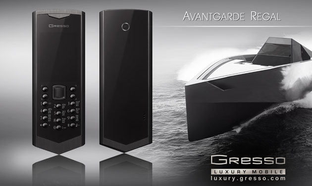 The Regal Black phone from Gresso – dynamic attitude of Avantgarde collection.