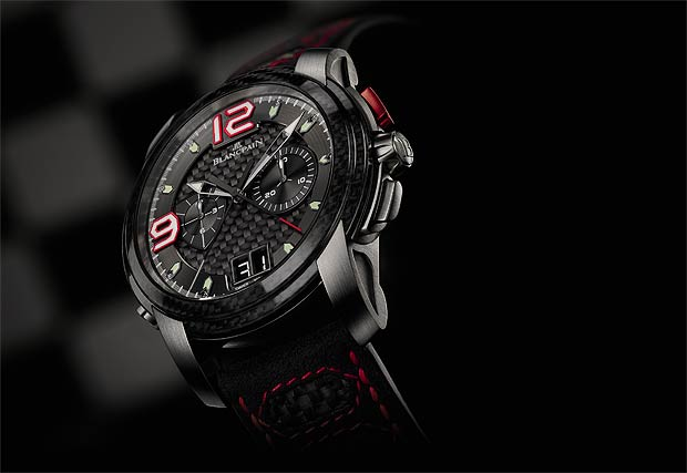 The latest Blancpain L-evolution collection with flyback split-seconds chronograph and large date.