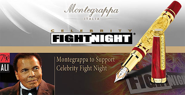 Montegrappa to donate donate a $45,000 fountain pen for the Celebrity Fight Night auction.