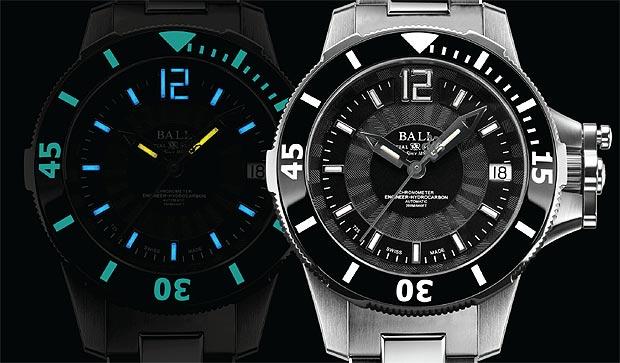 The Ball Watch Company Engineer Hydrocarbon Ceramic Midsize wrist watch.