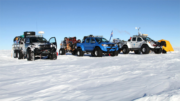 Toyota's Hilux pushes the boundaries of endurance by conquering Antartica on Jet Fuel.