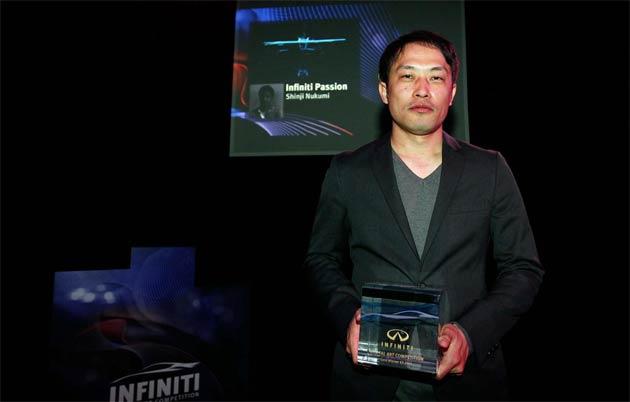 Shinji Nukumi wins first theme of Infiniti Digital Art Competition.