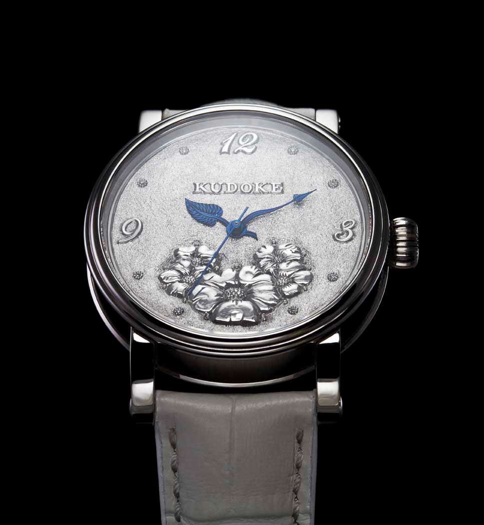 The kudoke white flower silver and diamond watch for ladies by during the last months stefan kudoke has spent his time and creativity to develop new watch called the kudoke white flower mightylinksfo