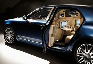Bentley Motors's advanced multimedia Mulsanne Executive Interior Concept.