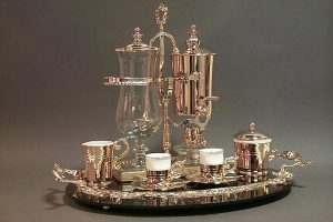 The Royal Demitasse Coffee Service - the world's most elegant coffee maker.
