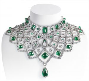 A modern masterpiece from Faberge - the Spectacular Emerald and Diamond Romanov Necklace