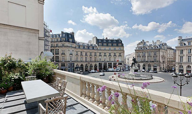 Palatial Elegance Finds Fashionable and Bohemian Charm at Place des Victoires.