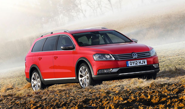 The new Volkswagen Passat Alltrack Estate with 4Motion four wheel drive.
