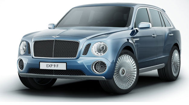 The Bentley EXP 9 F Luxury Sports Utility Vehicle - the Pinnacle of SUV Design and Performance.