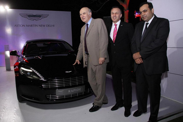 Aston Martin Previews at the 'Great British Garden Party' in New Delhi.