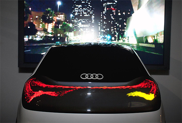 Lasers, Wipers and Swarms shed light on the future of Audi. 7