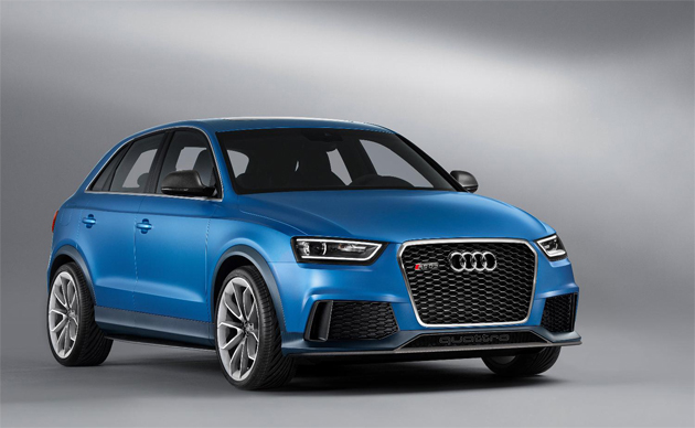 A study in SUV extremity from Audi – The 360PS Audi RS Q3 concept is unveiled next week at the Auto China 2012 show in Beijing. The study is capable of a 5.2-second 0-62mph time and a 165mph top speed courtesy of its 2.5-litre TFSI petrol engine.