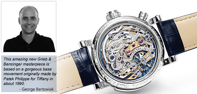 The making of the Grieb & Benzinger Blue Danube Platinum Wrist Watch. 8