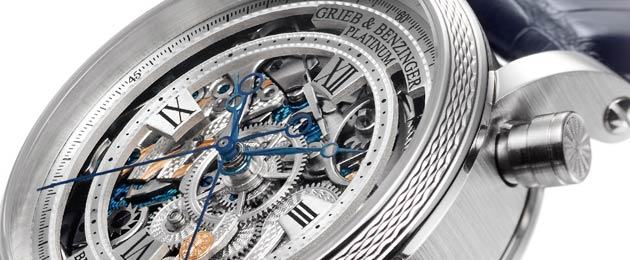 The making of the Grieb & Benzinger Blue Danube Platinum Wrist Watch. 7