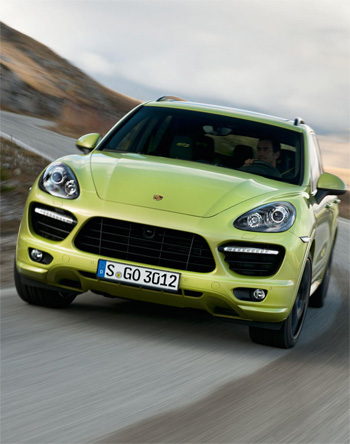 The New Porsche Cayenne GTS with tuned 420 hp V8 and lowered, stiffened suspension.