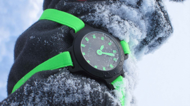 Dietrich launch the SNOW Watch, designed specifically to worn over the top of a Ski Jacket.