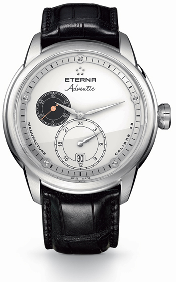 The Eterna Adventic wrist watch with the new 3843 proprietray calibre. 8