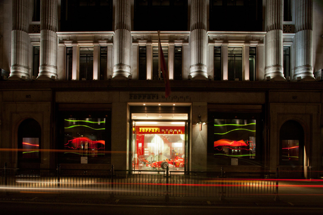 London's Ferrari Store brings the Ferrari wind tunnel to Regent Street.