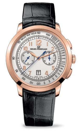 Girard-Perregaux - 42mm 1966 Chronograph wrist watch in Pink Gold. 4