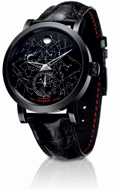 The Movado Red Label Skymap limited edition automatic wrist watch. 4
