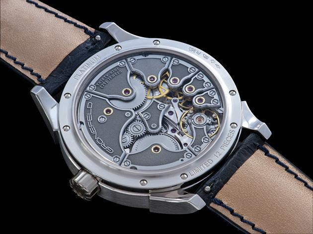 Tim and Bart Grönefeld present the One Hertz Platinum wrist watch. 11