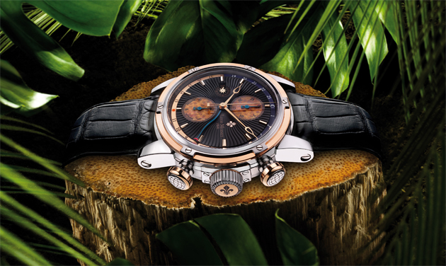Louis Moinet receives Red Dot award for their Geograph Rainforest Timepiece. 4