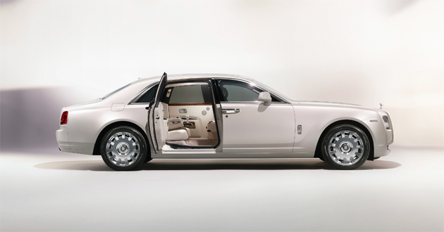 The Rolls- Royce Ghost Six Senses luxury concept car.