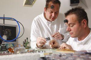 Tim and Bart Grönefeld present the One Hertz Platinum wrist watch. 12